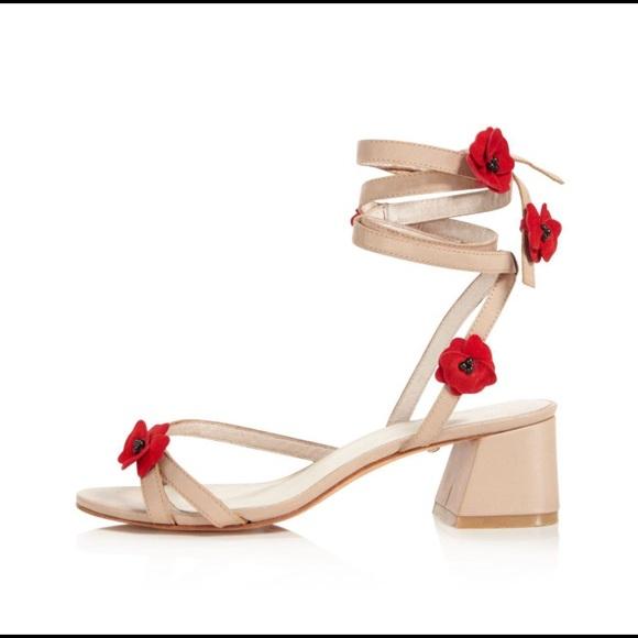 50678401e91 RAYE Cassia Flower Embellish Ankle Wrap Sandal